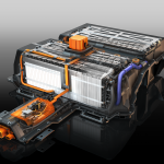 Chevy Spark Battery Cutaway (Lit,Text,Rend in Keyshot by Me, Retouching Fred Pepera)