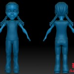Concept Cartoon Zbrush Sketch, Studio Sample